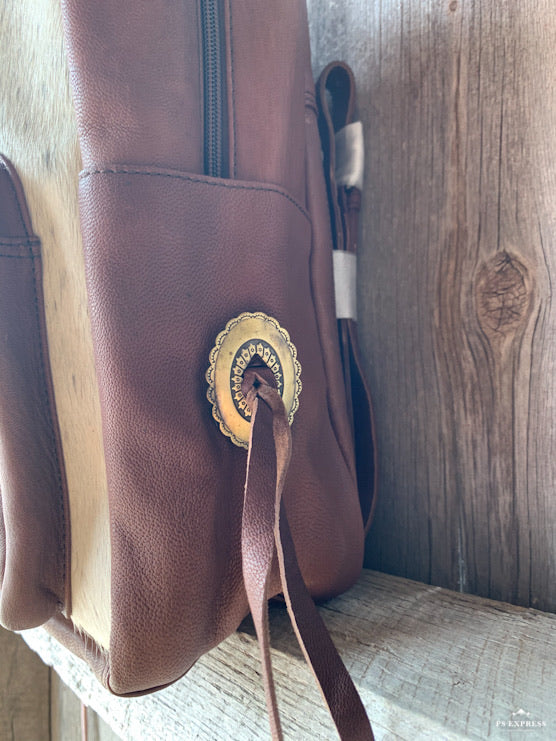 Concho Fringe Backpack Purse