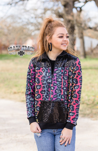 Rollercoaster Sequin Leopard Pullover