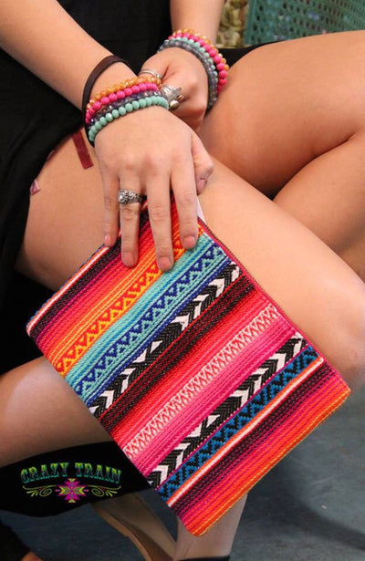 Bella Serape Wristlet - Ropes and Rhinestones