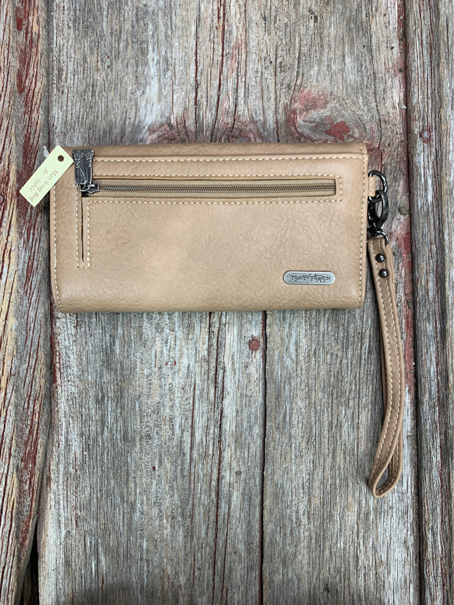 Tooled & Busk Stitched Wallet/Wristlet