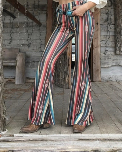 Serape Aztec Bell Bottom Pants