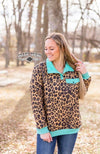Yas Queen Quilted Leopard Pullover