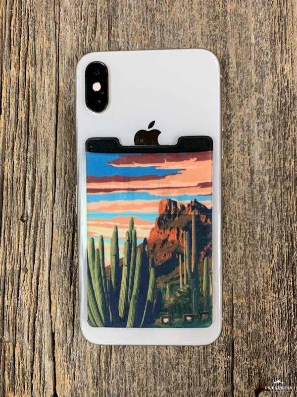 Cactus Sunset Phone Pocket