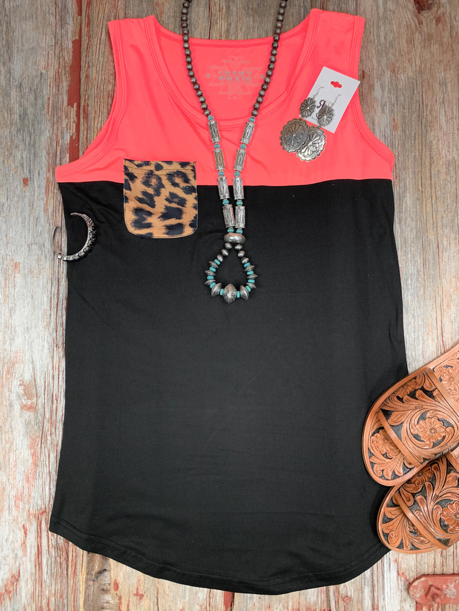 Pick Pocket Leopard Tank Top