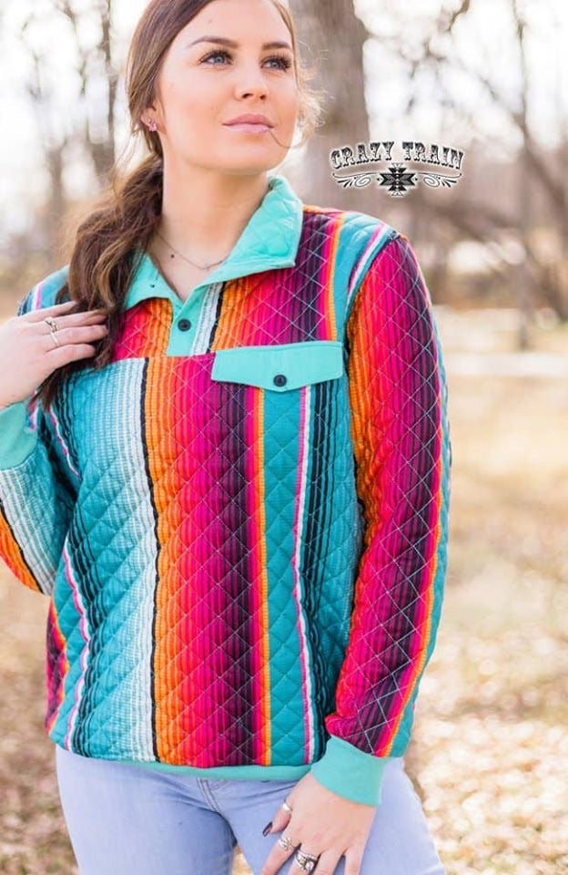 Quebec Quilted Serape Pullover