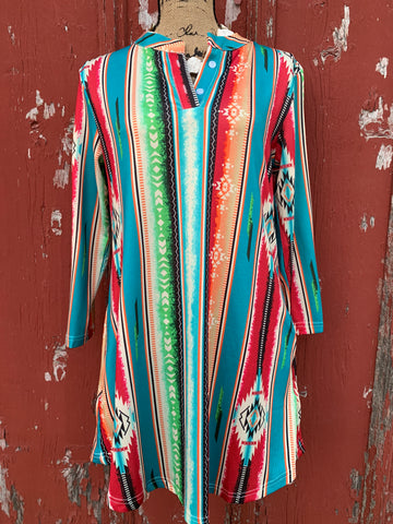 Serape Aztec Dress/Tunic
