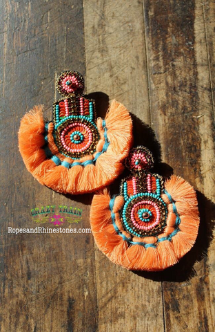 Costa Rica Earrings - Ropes and Rhinestones
