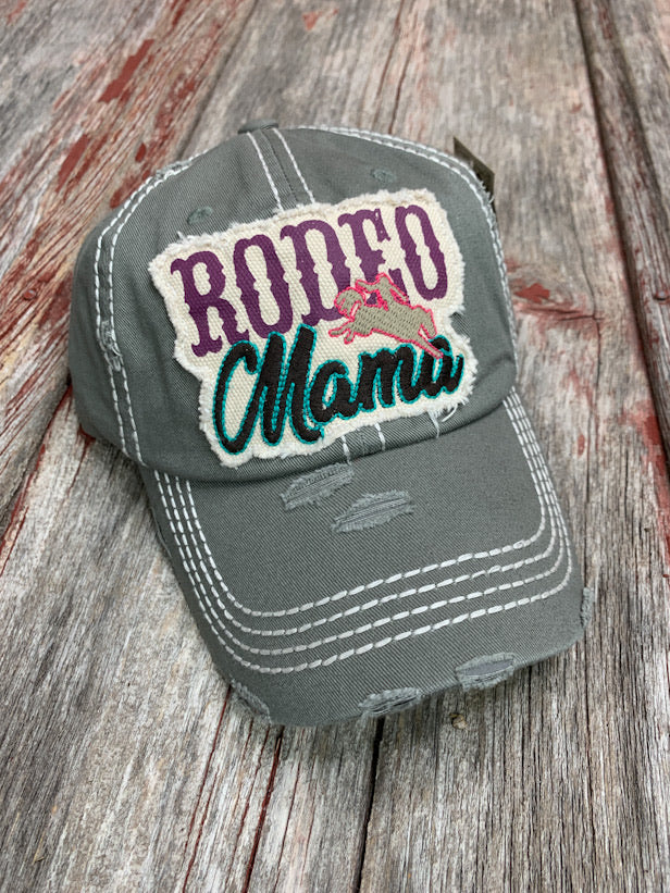 Rodeo Mama Bronc Rider Patch Cap