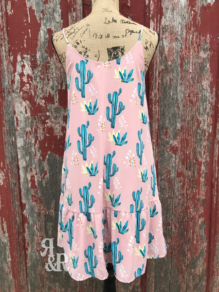 Cactus Pink Dress - Ropes and Rhinestones