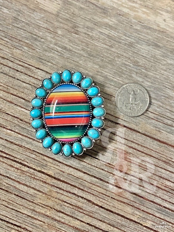 Serape Turquoise Bubble Phone Grip
