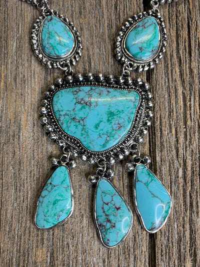 Turquoise Top Hand Necklace
