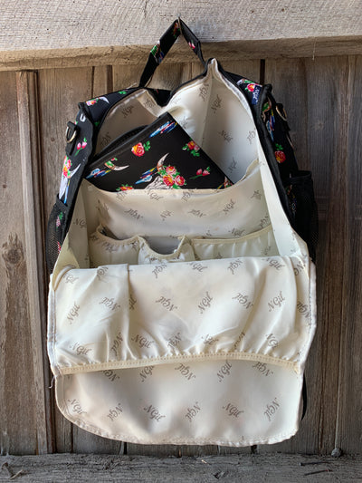 Black Bull Skull Diaper Bag