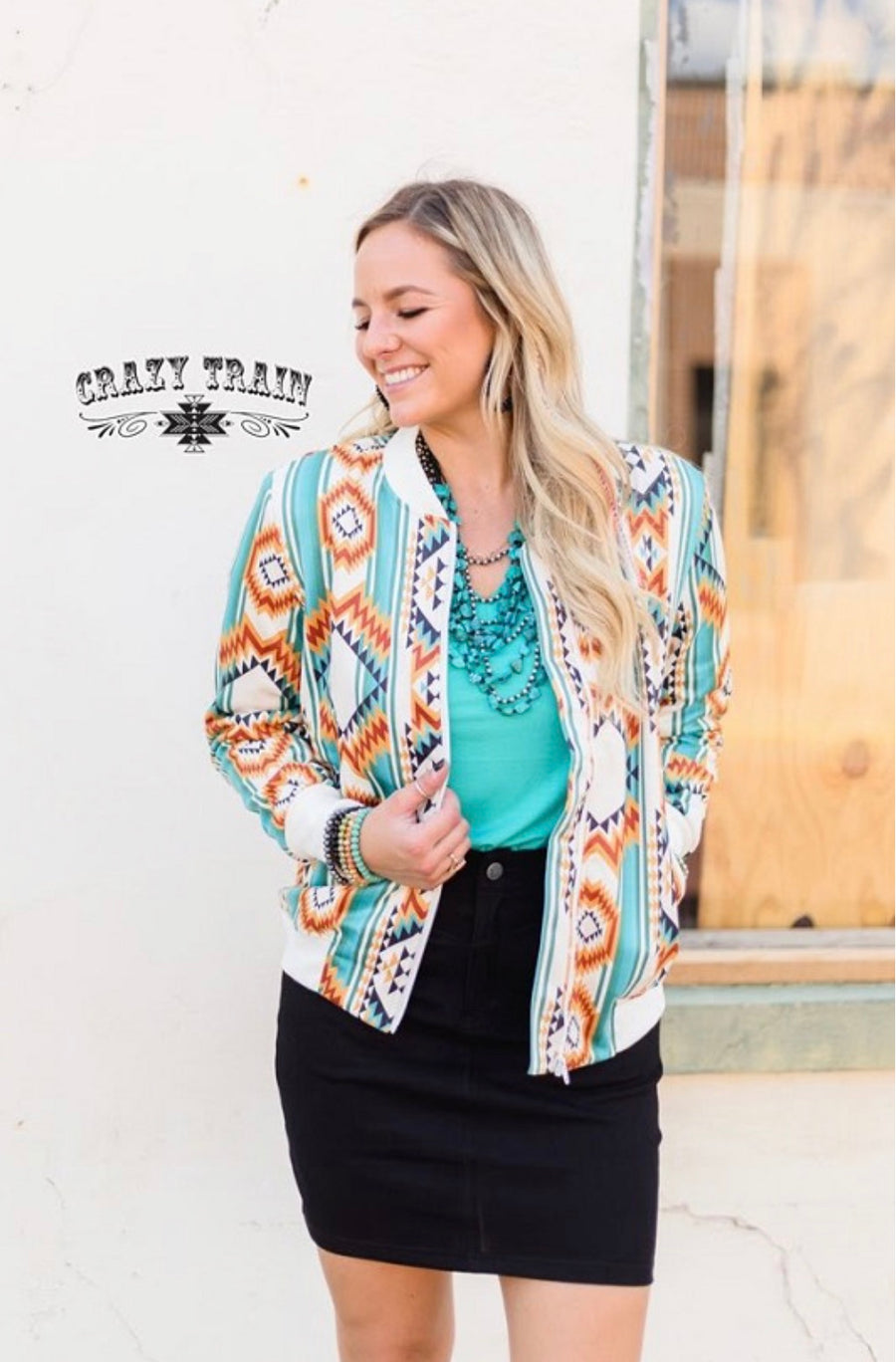 Rowdy Ways Aztec Bomber Jacket