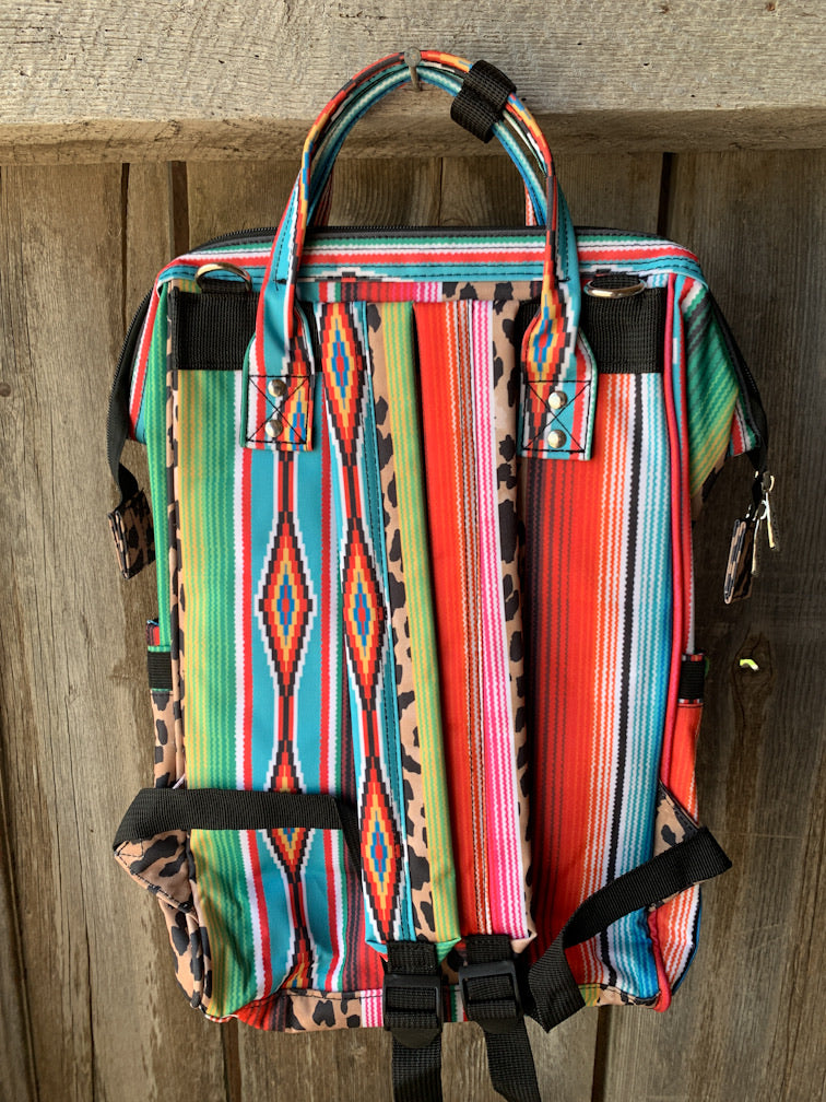 Serape/Leopard Travel/Diaper Bag