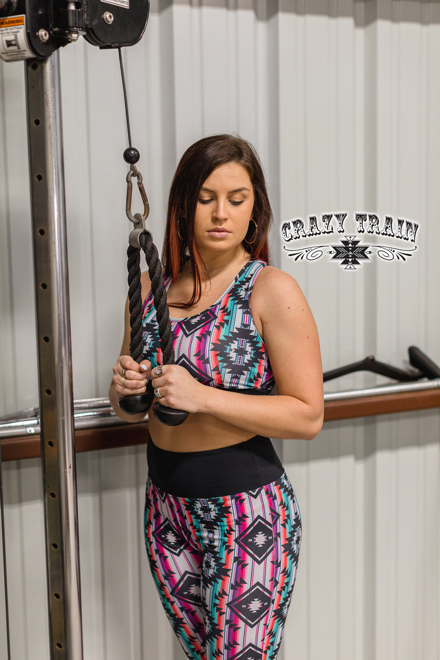 Rack and Roll Aztec Sports Bra