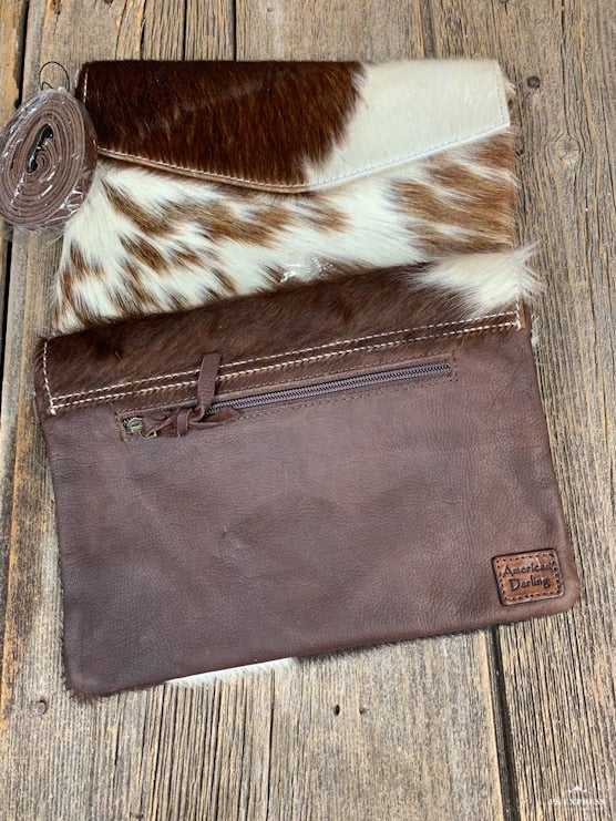 Cowhide Envelope Crossbody Purse