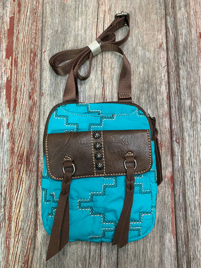 Aztec Quilted Cross Body Purse