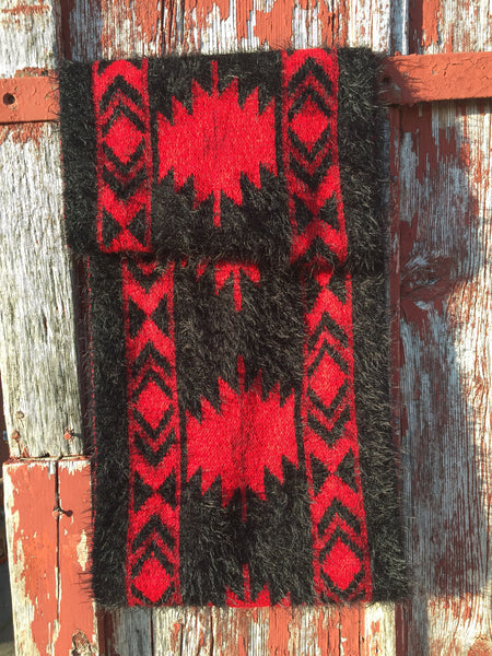 Aztec mohair scarf - Ropes and Rhinestones