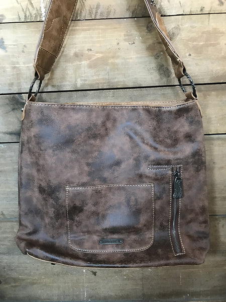 Cowhide Patchwork Hobo Purse