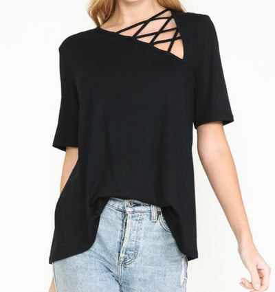 Side Eye Criss Cross Top