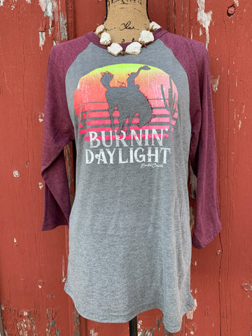 Burnin Daylight Baseball Shirt - Ropes and Rhinestones
