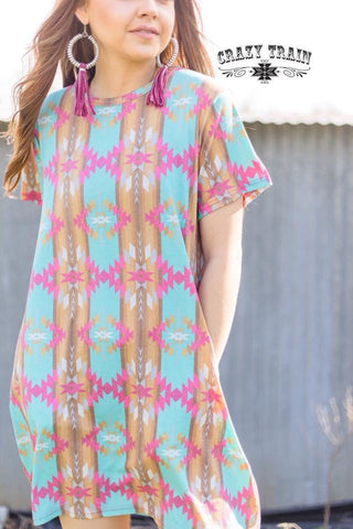 Sundown Aztec Dress