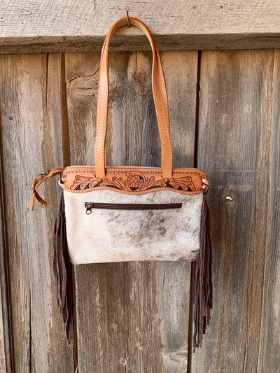 Little Bit Cowhide & Fringe Purse
