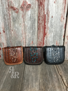 Tooled Leather Filigree Cross Body Purse