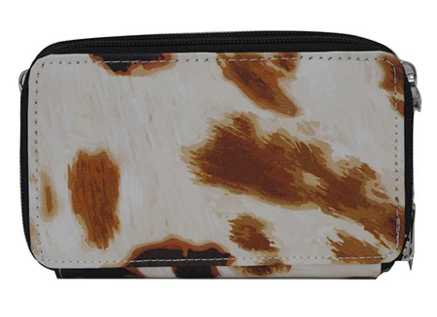 Cow Print All In One Wallet