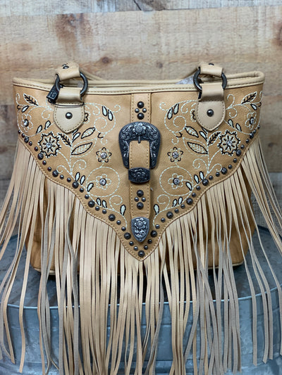 Fringe & Embroidered Concealed Carry Purse