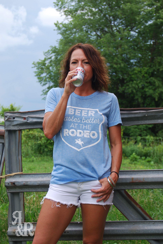Beer Tastes Better Tee - Ropes and Rhinestones
