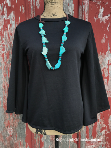 Long Tall Turquoise Necklace