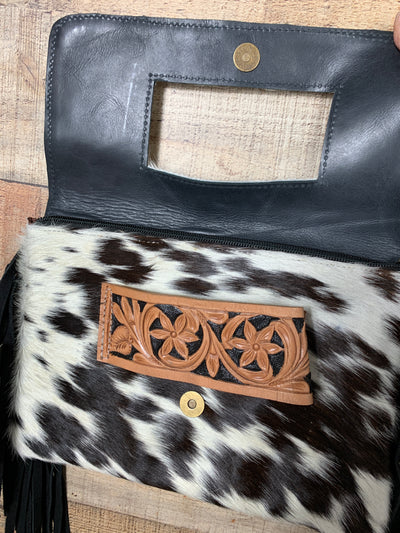 Classy Cowhide Combo Purse