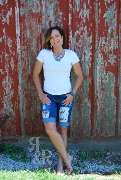Bermuda Western Patch Shorts - Ropes and Rhinestones