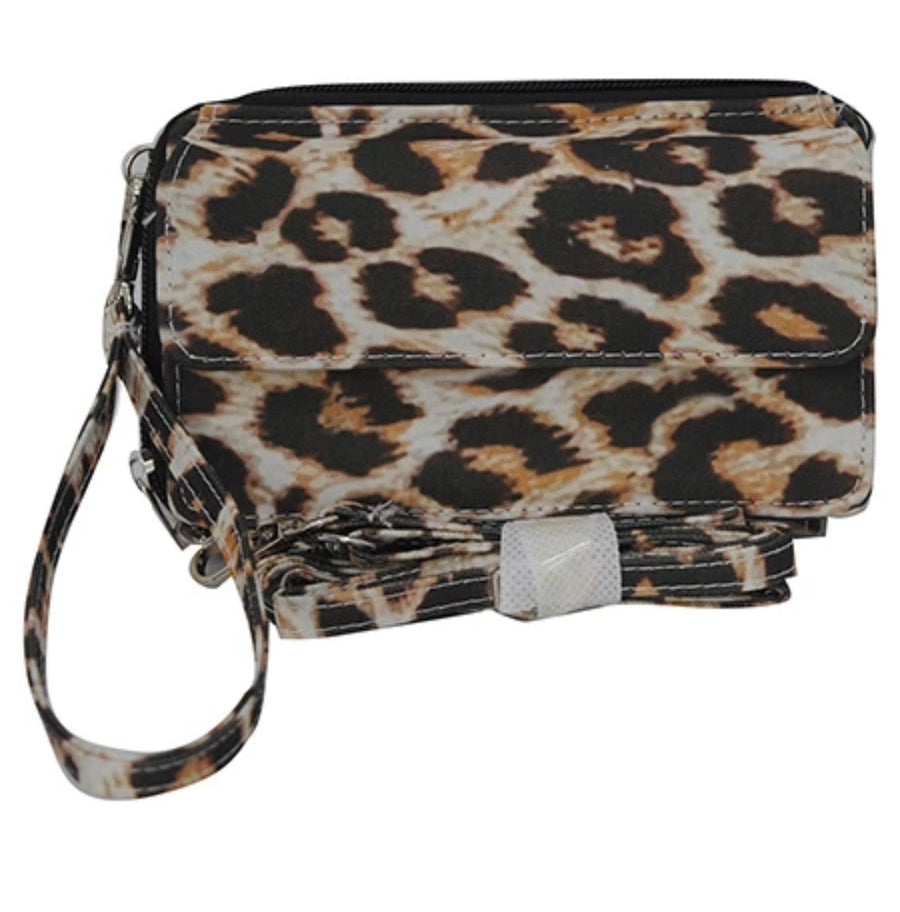 Wild Leopard Print All In One Wallet