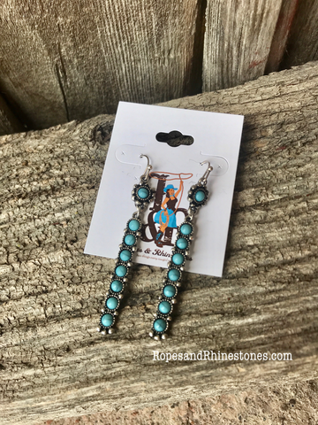 Turquoise Dangle for Days Earrings