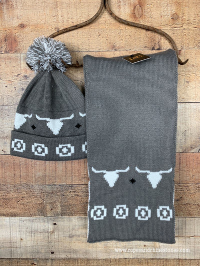 Cow Skull Winter Hat or Scarf