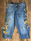 Floral Indian Embroidered Jeans