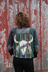 Cow Skull Jacket - Ropes and Rhinestones