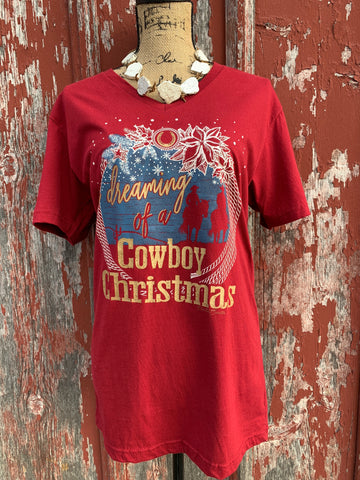 Cowboy Christmas Tee - Ropes and Rhinestones