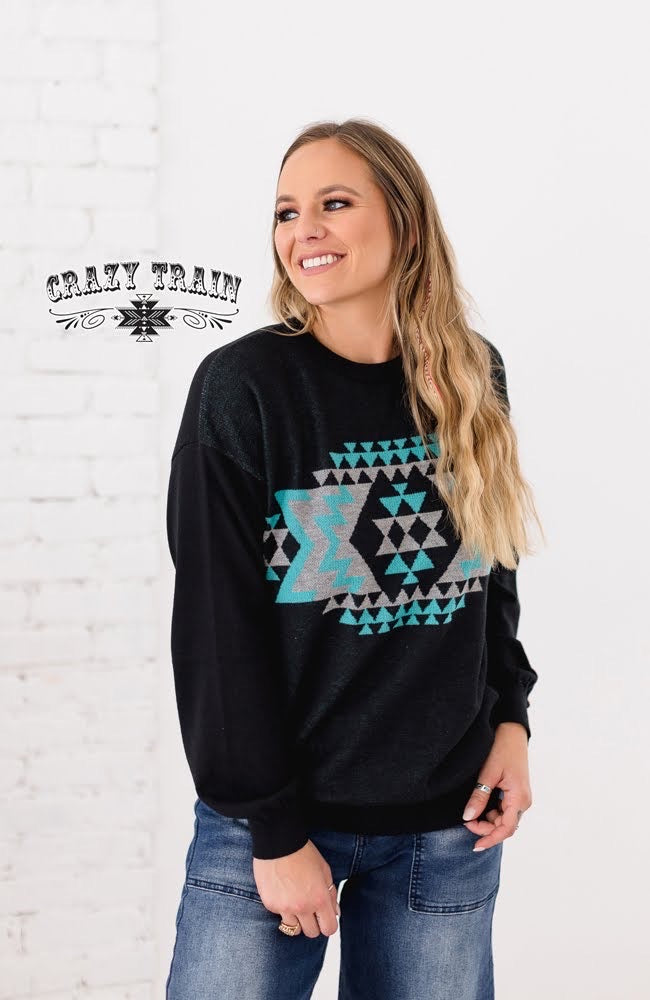 Grand Ol Opry Aztec Knit Pullover