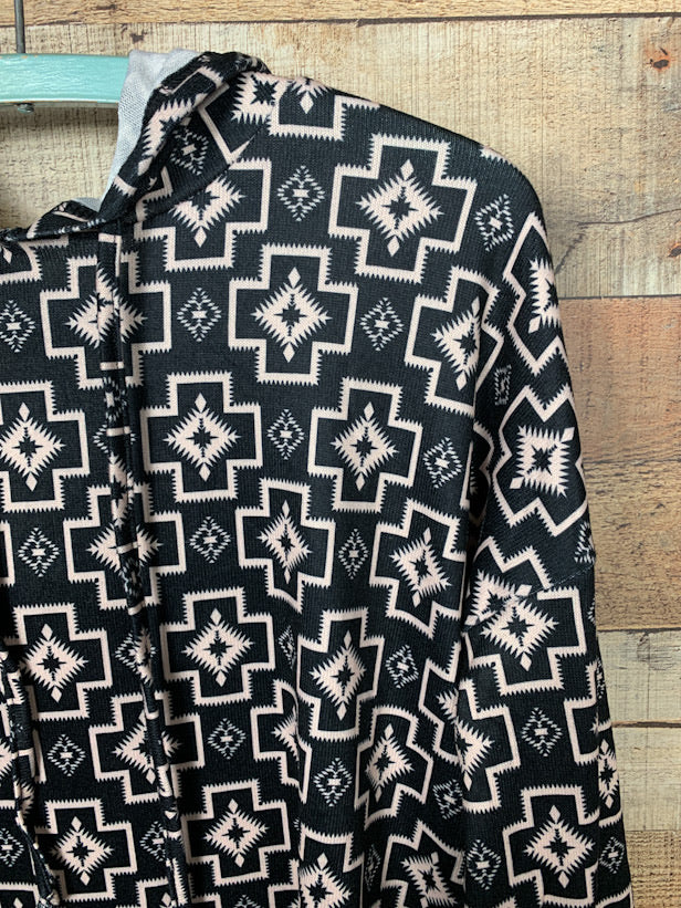 Cross Country Aztec Hooded Sweatshirt