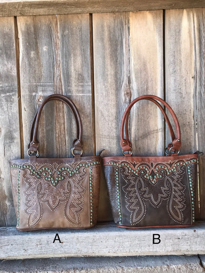 Cowboy Boot Studded Purse Collection - Ropes and Rhinestones