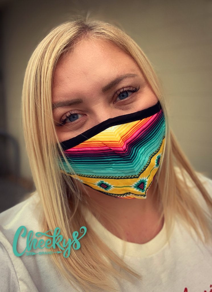 Cancun Serape Face Mask