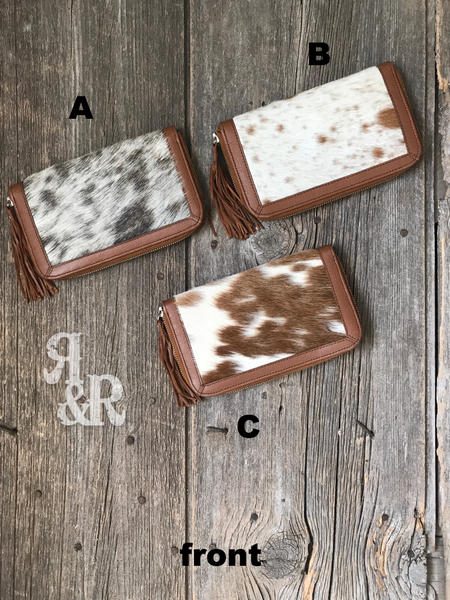 Cowhide Clutch - Ropes and Rhinestones