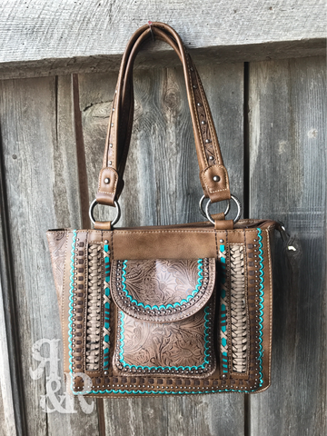 Tooled Pocket Tote