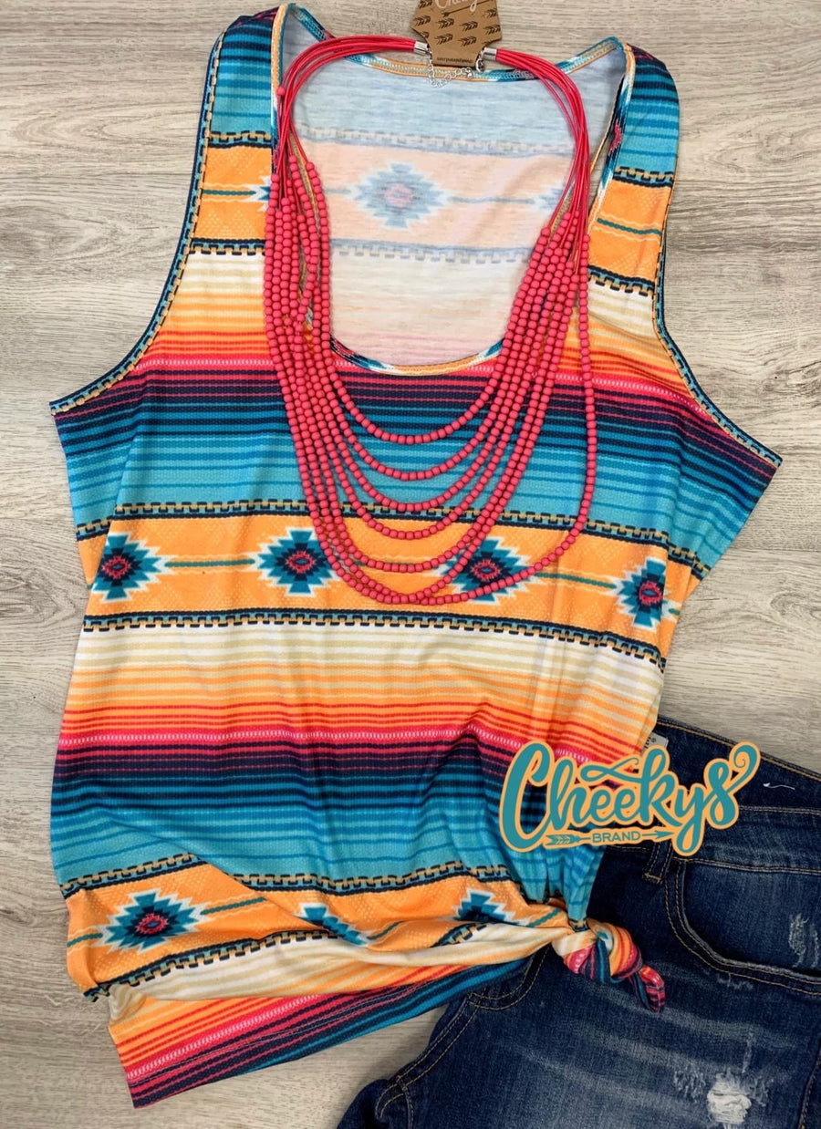 Cancun Aztec Serape Tank Top
