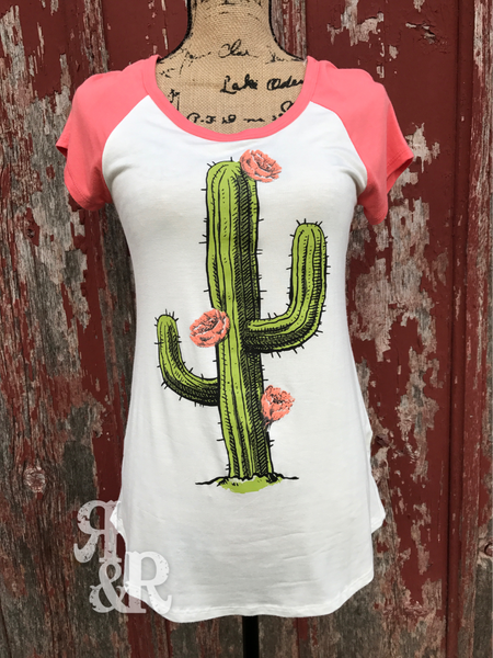 Cactus Flower Tee - Ropes and Rhinestones