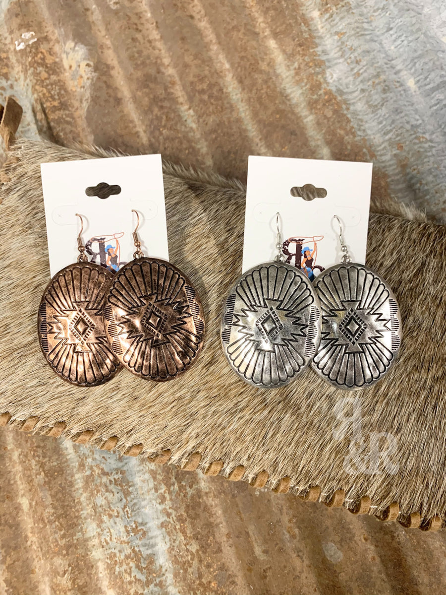 Aztec Medallion Earrings