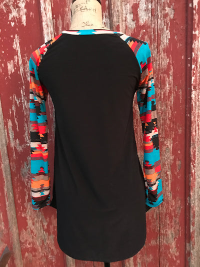 Aztec Cactus Tunic Top - Ropes and Rhinestones